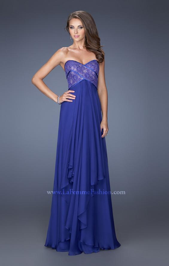 Picture of: Sweetheart Prom Dress with Tiered Chiffon Skirt in Blue, Style: 19921, Main Picture