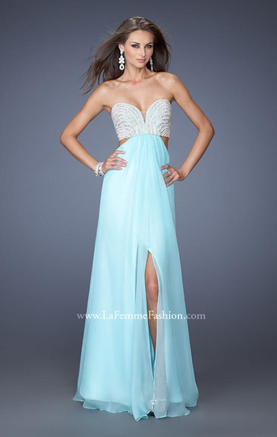 Picture of: Embellished Long Prom Dress with Center Slit, Style: 19927, Main Picture