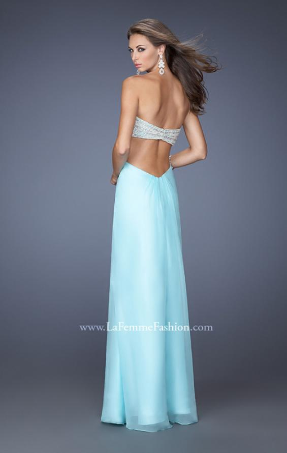 Picture of: Embellished Long Prom Dress with Center Slit, Style: 19927, Back Picture