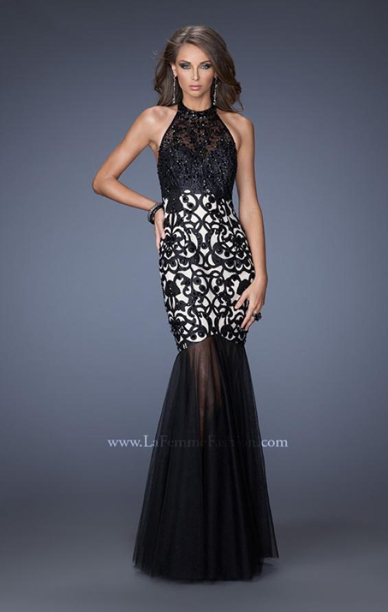 Picture of: Mermaid Style Prom Dress with Halter Neckline and Stones, Style: 19974, Main Picture