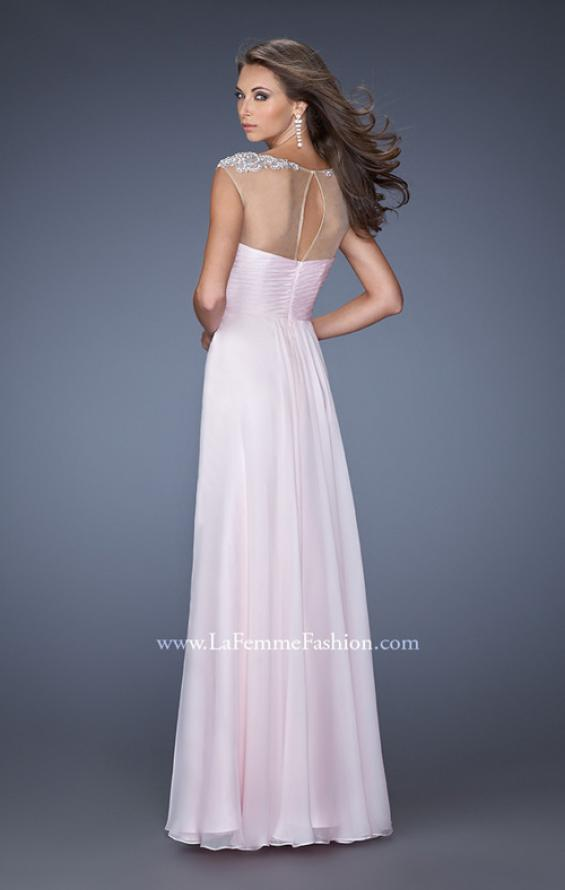 Picture of: Sweetheart Gown with Empire waist and Pearl Detailing in Pink, Style: 19977, Back Picture