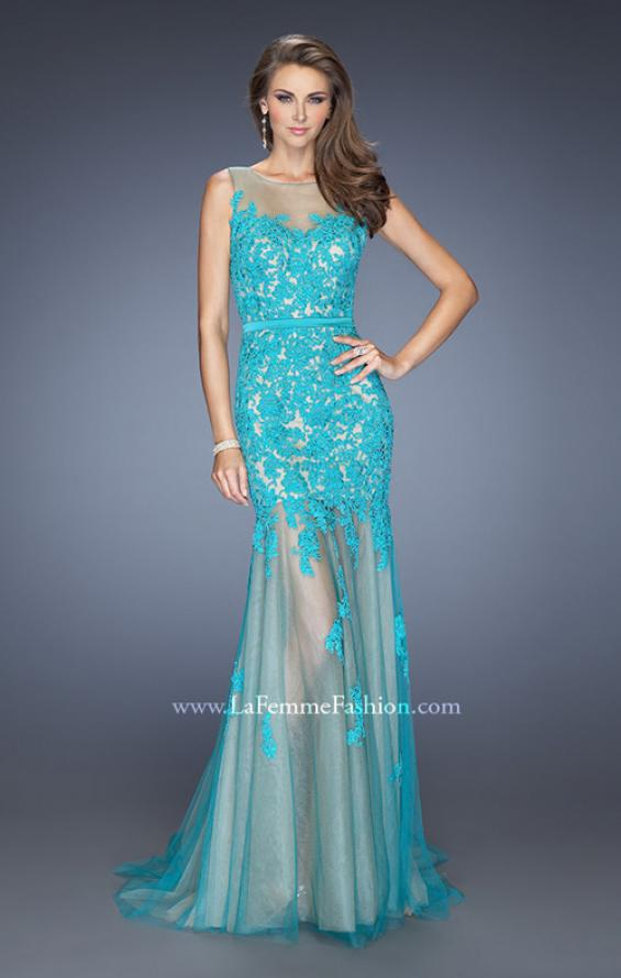 Picture of: Mermaid Style Prom Dress with Boat Neck and Lace, Style: 19991, Detail Picture 1