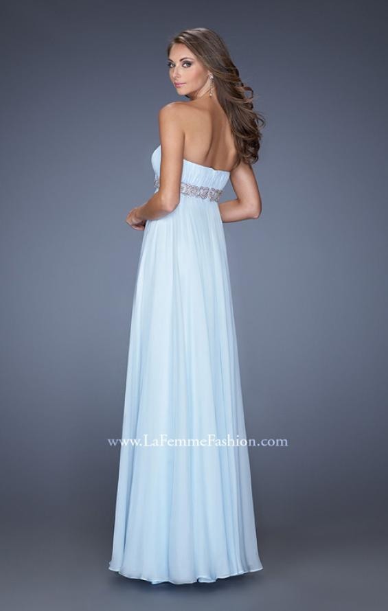 Picture of: Ling Empire Waist Prom Dress with Pleated Bodice, Style: 19996, Back Picture