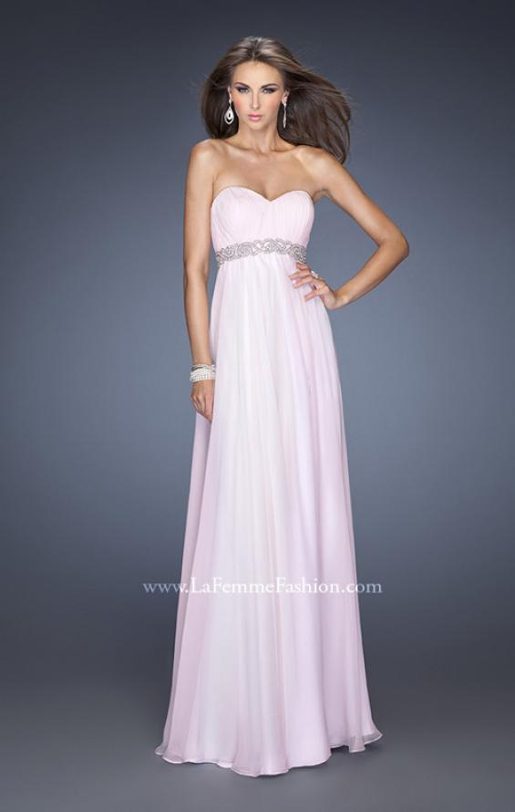 Picture of: Ling Empire Waist Prom Dress with Pleated Bodice, Style: 19996, Detail Picture 1