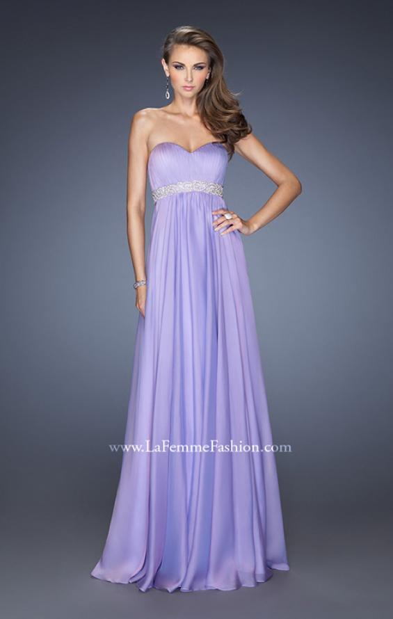 Picture of: Ling Empire Waist Prom Dress with Pleated Bodice, Style: 19996, Detail Picture 3