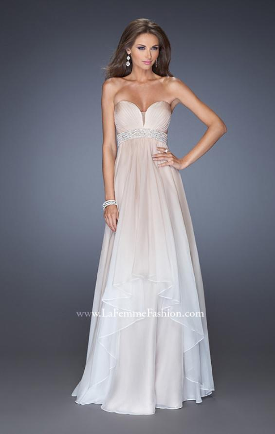 Picture of: Ombre Dyed Long Prom Gown with Plunging Neckline, Style: 20005, Detail Picture 2