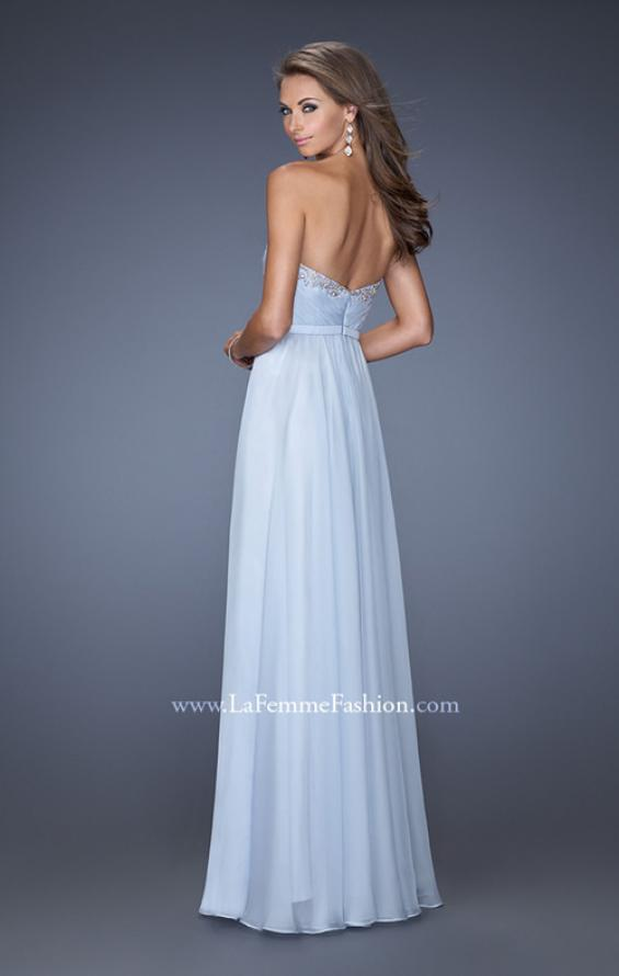 Picture of: Long Vintage Inspired Prom Gown with Beads and Jewels, Style: 20027, Back Picture