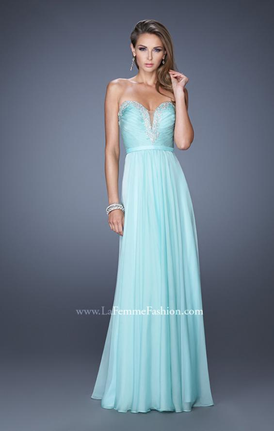 Picture of: Long Vintage Inspired Prom Gown with Beads and Jewels, Style: 20027, Detail Picture 4