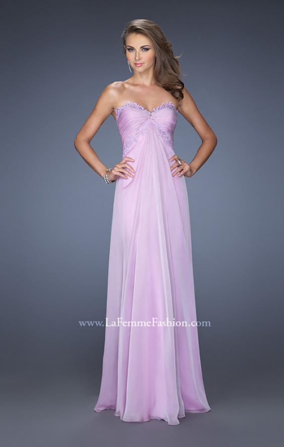 Picture of: Strapless Prom Gown with Empire Waist and Jewels in Purple, Style: 20042, Main Picture