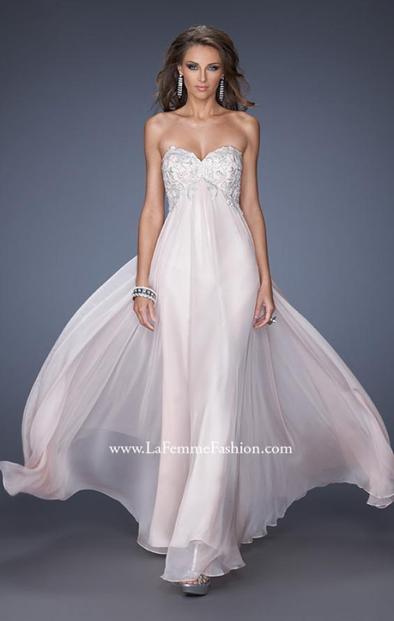 Picture of: Chiffon Prom Gown with Empire Waist and Jewels, Style: 20057, Main Picture