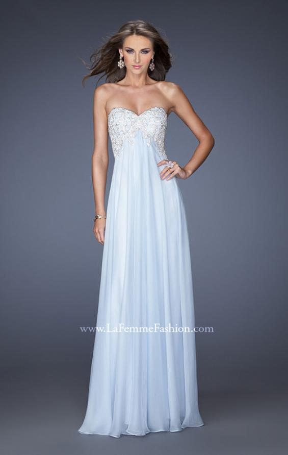Picture of: Chiffon Prom Gown with Empire Waist and Jewels, Style: 20057, Detail Picture 3