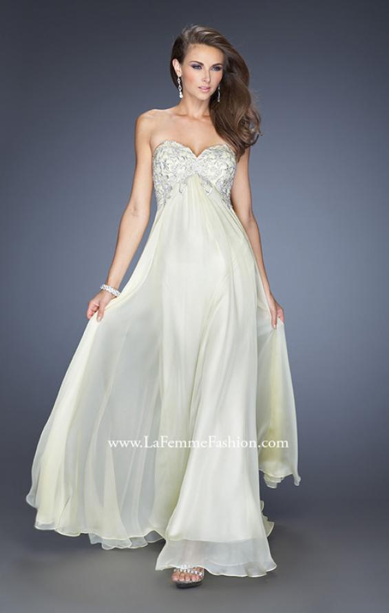 Picture of: Chiffon Prom Gown with Empire Waist and Jewels, Style: 20057, Detail Picture 4