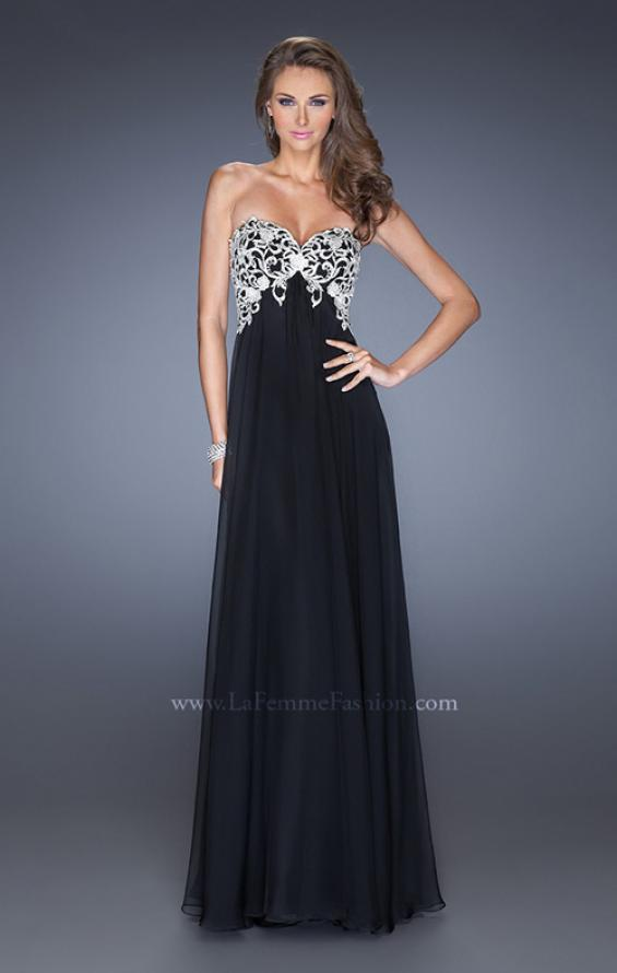 Picture of: Chiffon Prom Gown with Empire Waist and Jewels, Style: 20057, Detail Picture 6