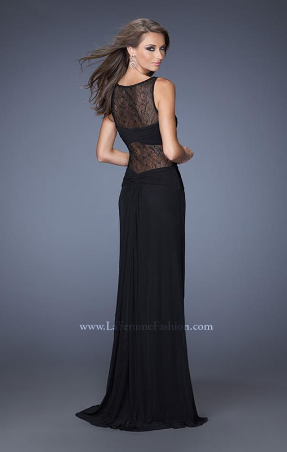 Picture of: Jersey and Lace Combination Prom Dress with High Slit, Style: 20093, Back Picture