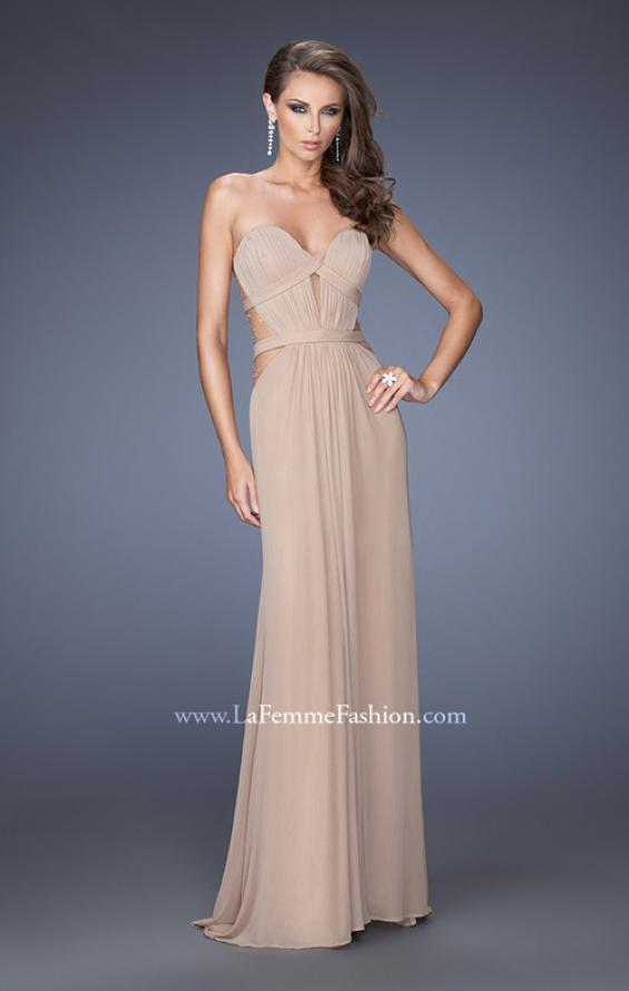Picture of: Strapless Mini Dress with Floor Length Skirt Overlay, Style: 20094, Main Picture