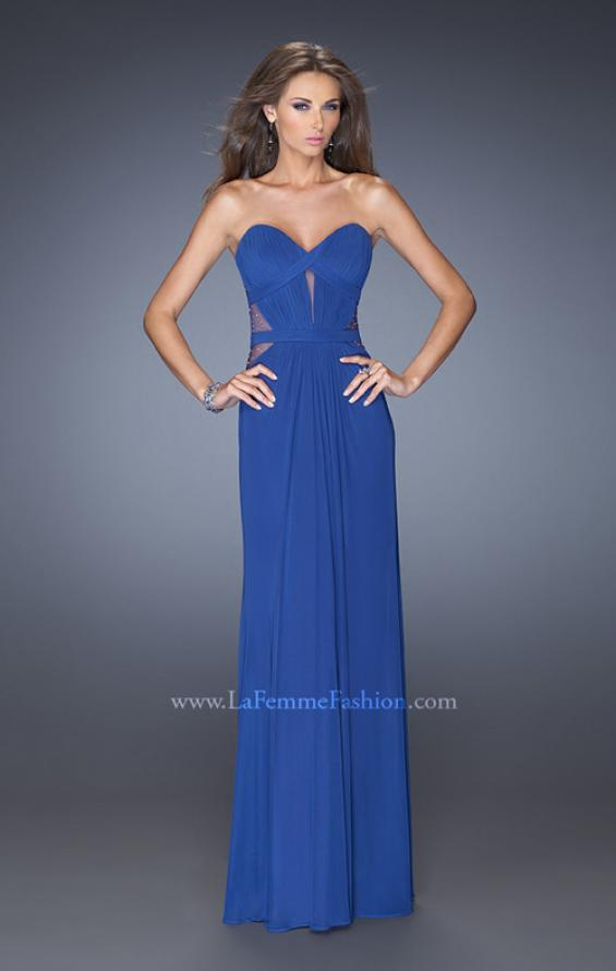 Picture of: Strapless Mini Dress with Floor Length Skirt Overlay, Style: 20094, Detail Picture 1