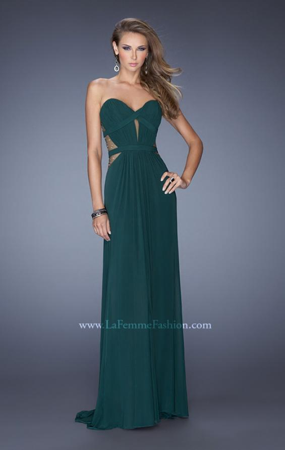 Picture of: Strapless Mini Dress with Floor Length Skirt Overlay, Style: 20094, Detail Picture 2