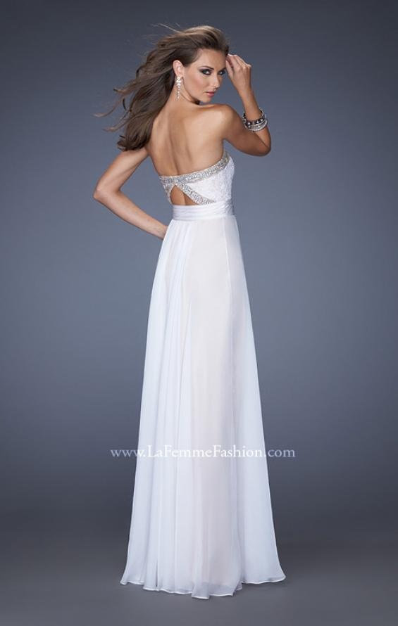 Picture of: Strapless Prom Gown with Lace and Sweetheart Neckline, Style: 20115, Back Picture