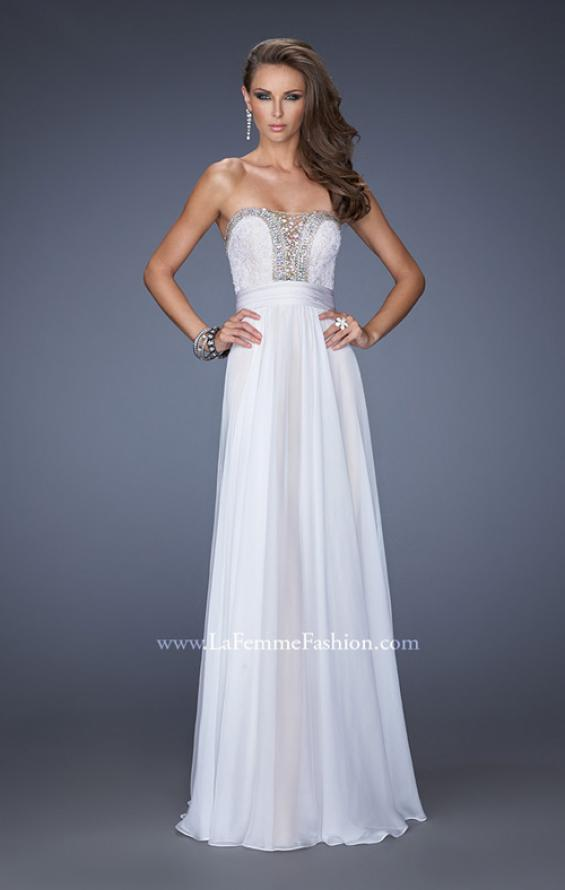 Picture of: Strapless Prom Gown with Lace and Sweetheart Neckline, Style: 20115, Detail Picture 1