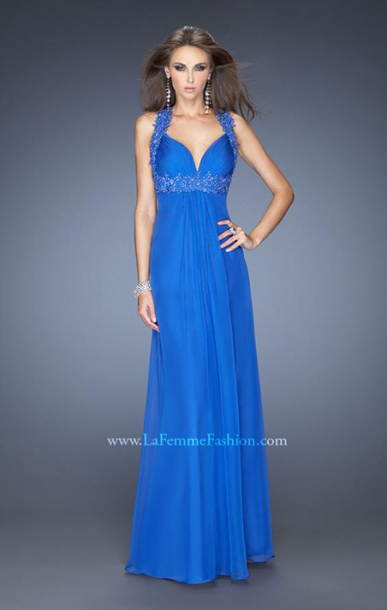 Picture of: Empire Waist, V Neck Gown with Ruched Bodice, Style: 20134, Detail Picture 1