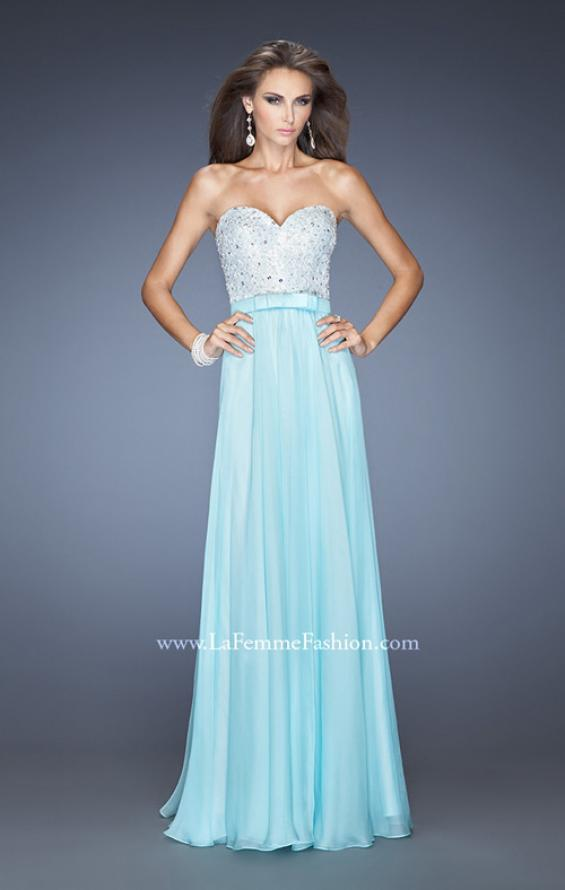 Picture of: Chiffon Prom Dress with Boat Neck and Cap Sleeves, Style: 20139, Main Picture