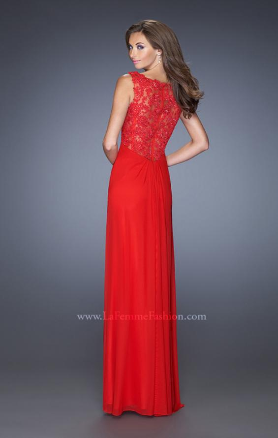 Picture of: V-neck Dress with Twisted Ruched Knot and Cut Outs, Style: 20142, Detail Picture 1