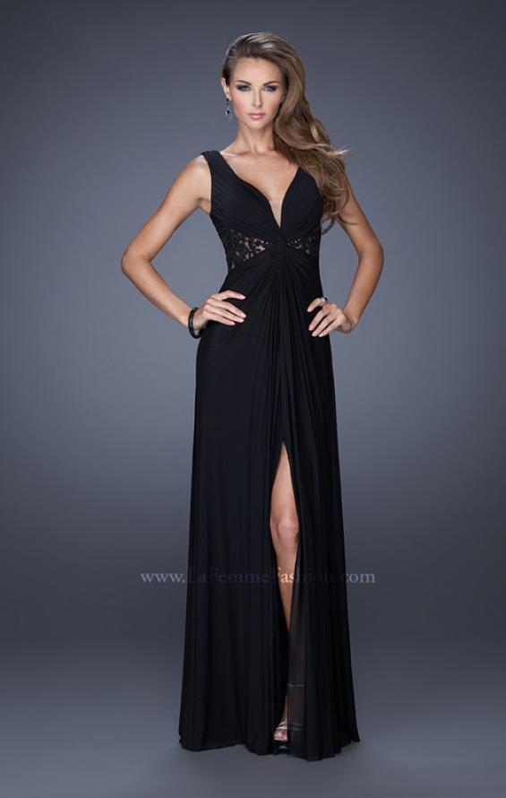 Picture of: V-neck Dress with Twisted Ruched Knot and Cut Outs, Style: 20142, Detail Picture 2