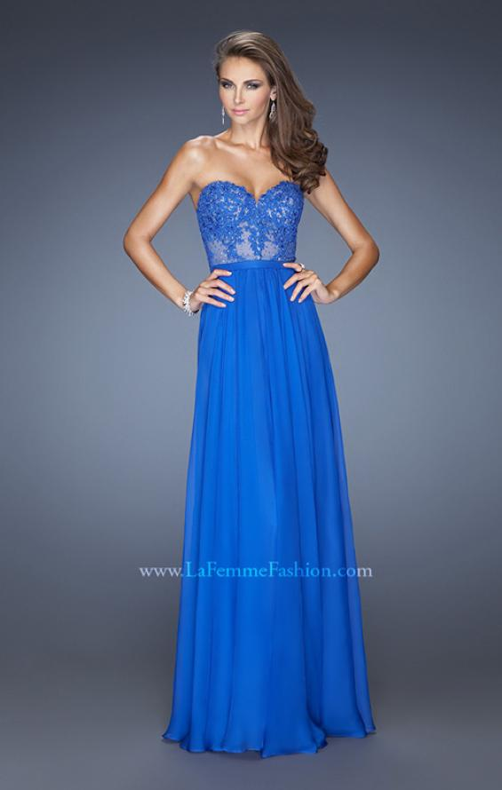 Picture of: Long Sweetheart Prom Dress with Lace and Matching Jewels, Style: 20393, Main Picture