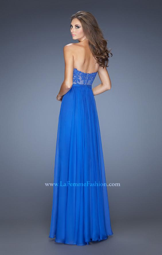 Picture of: Long Sweetheart Prom Dress with Lace and Matching Jewels, Style: 20393, Back Picture