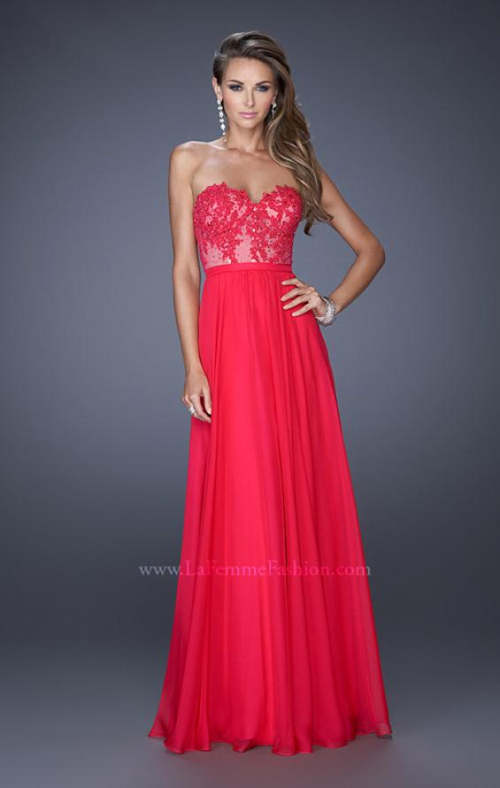Picture of: Long Sweetheart Prom Dress with Lace and Matching Jewels, Style: 20393, Detail Picture 2