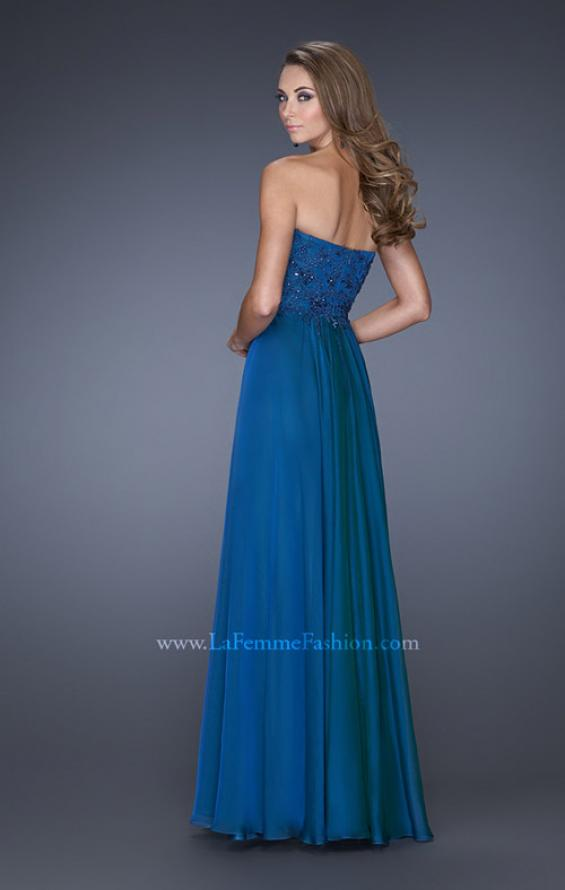 Picture of: Long Prom Gown with Jeweled Lace Accents on the Waist, Style: 20449, Back Picture