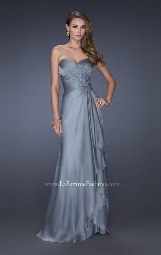 Picture of: Sweetheart Evening Gown with Gathered Bodice and Lace, Style: 20479, Detail Picture 4