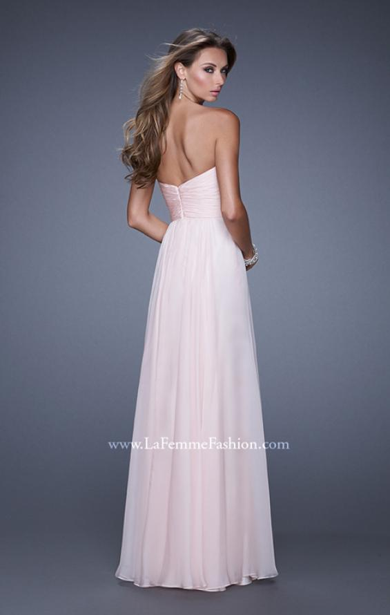 Picture of: Long Chiffon Prom Dress with Beaded Lace Appliques, Style: 20535, Back Picture