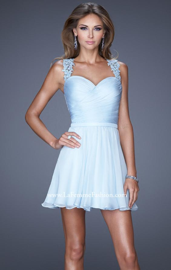 Picture of: Prom Dress with Gathered Bodice and Lace Open Back, Style: 20590, Main Picture