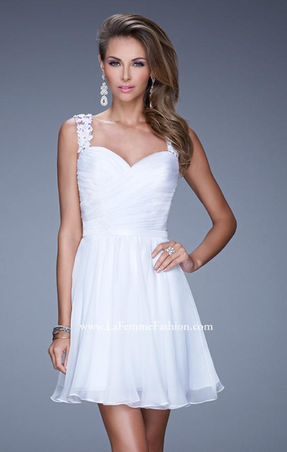 Picture of: Prom Dress with Gathered Bodice and Lace Open Back, Style: 20590, Detail Picture 2