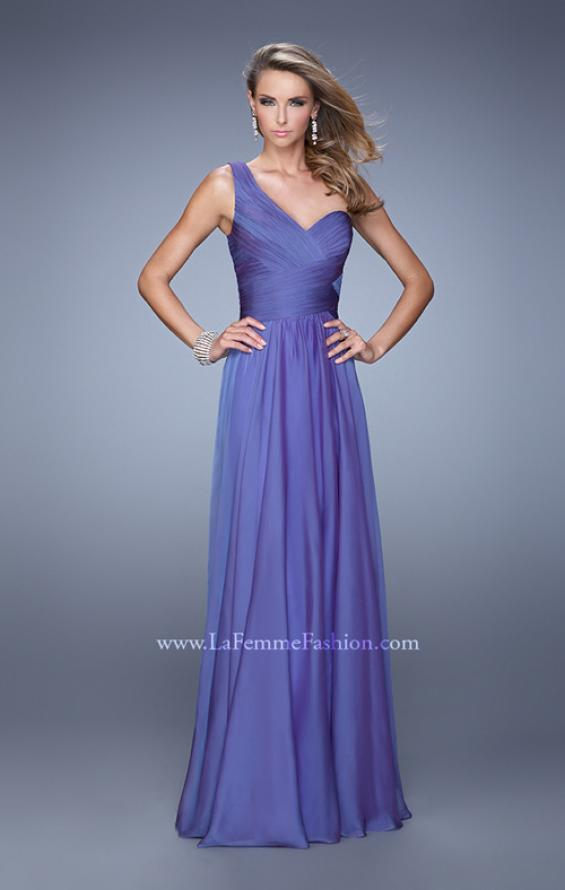 Picture of: Long One Shoulder Prom Gown with Criss Cross Bodice, Style: 20639, Detail Picture 4