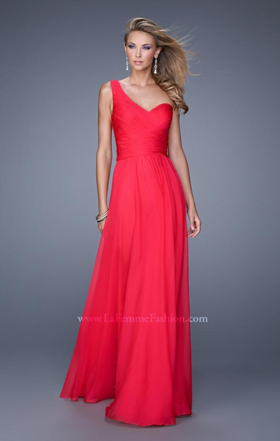 Picture of: Long One Shoulder Prom Gown with Criss Cross Bodice, Style: 20639, Detail Picture 6