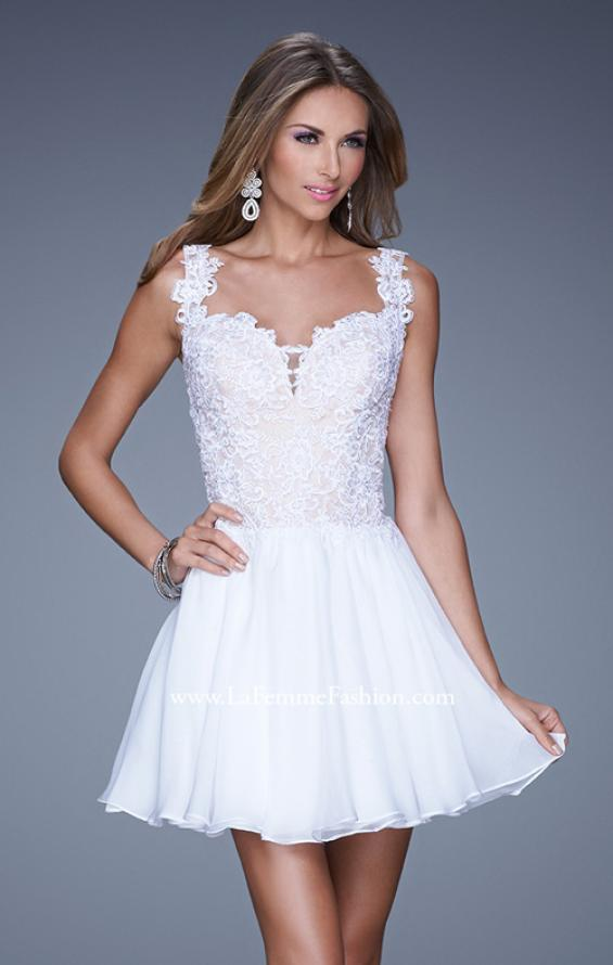 Picture of: Lace Bodice Sweetheart Neck Chiffon Prom Gown, Style: 20672, Detail Picture 2