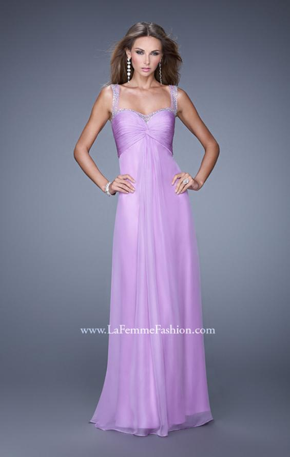 Picture of: Sweetheart Chiffon Prom Dress with Embellishments in Purple, Style: 20678, Main Picture