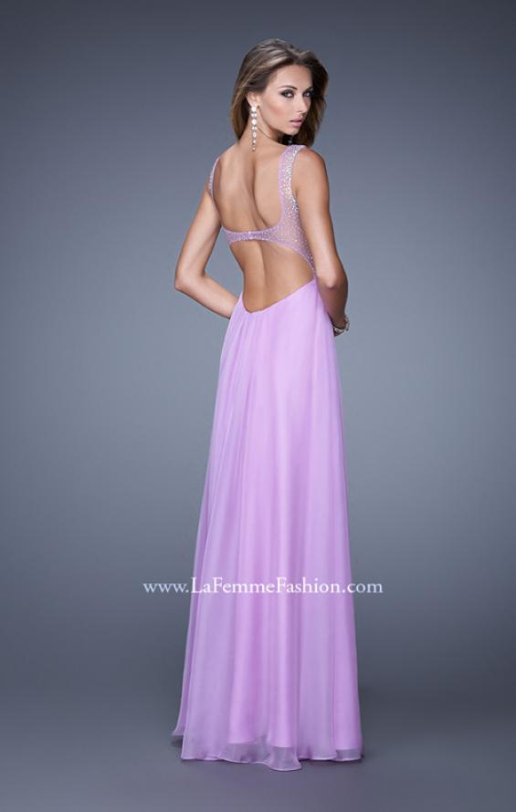 Picture of: Sweetheart Chiffon Prom Dress with Embellishments in Purple, Style: 20678, Back Picture