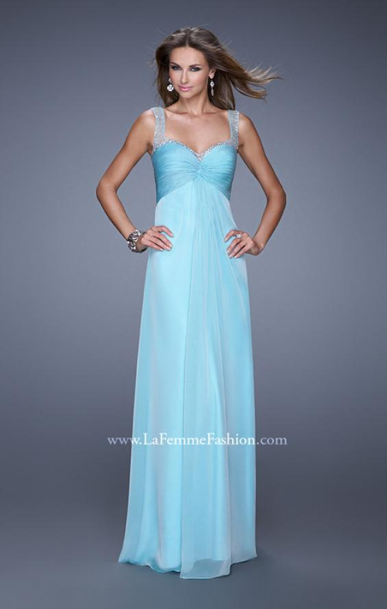 Picture of: Sweetheart Chiffon Prom Dress with Embellishments in Blue, Style: 20678, Detail Picture 1