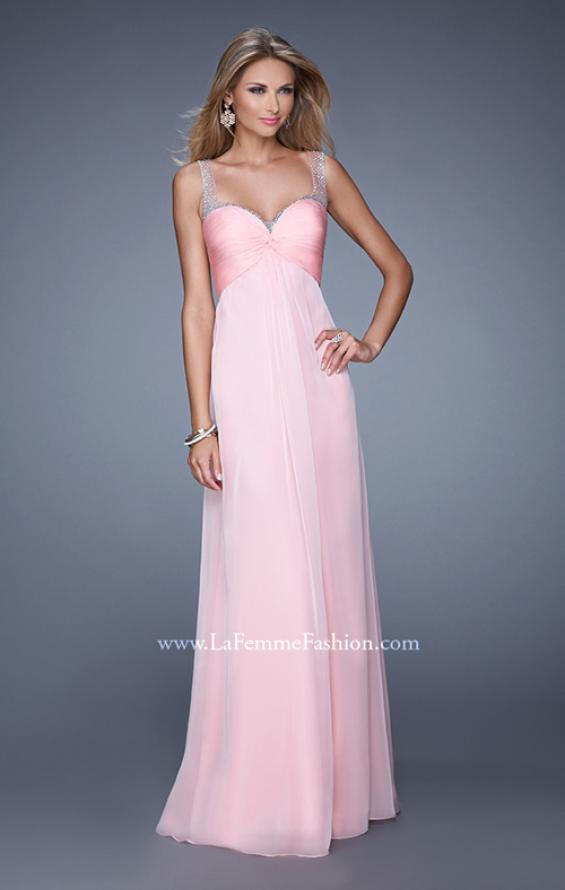 Picture of: Sweetheart Chiffon Prom Dress with Embellishments in Pink, Style: 20678, Detail Picture 2