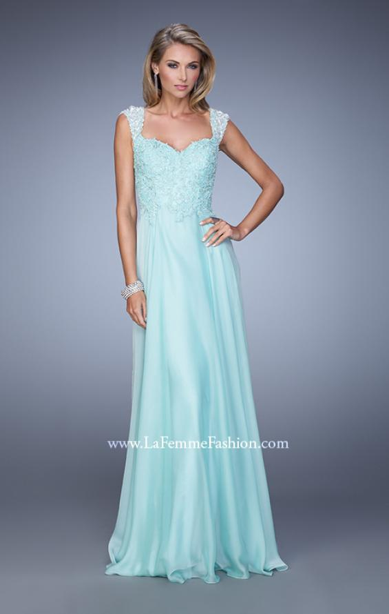 Picture of: Beaded Lace Sweetheart Prom Dress with Sheer Straps, Style: 20701, Detail Picture 8