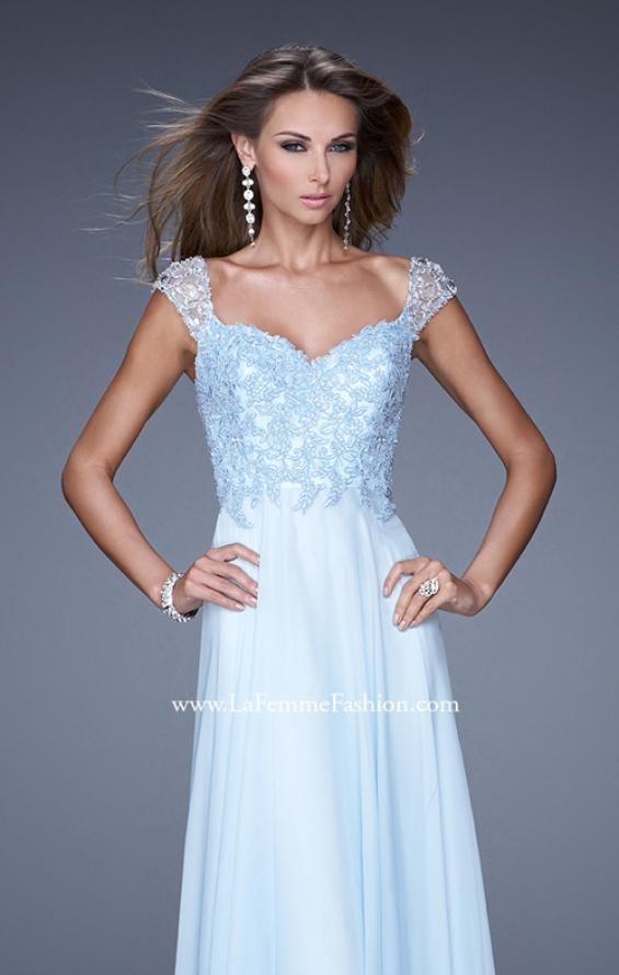 Picture of: Beaded Lace Sweetheart Prom Dress with Sheer Straps, Style: 20701, Detail Picture 1