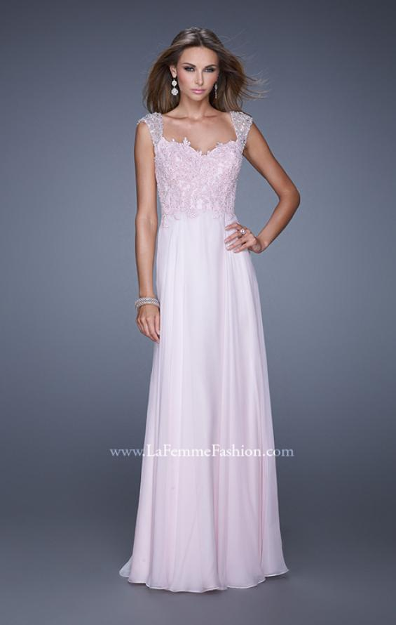 Picture of: Beaded Lace Sweetheart Prom Dress with Sheer Straps, Style: 20701, Detail Picture 3