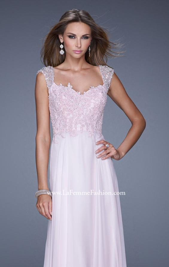 Picture of: Beaded Lace Sweetheart Prom Dress with Sheer Straps, Style: 20701, Detail Picture 6
