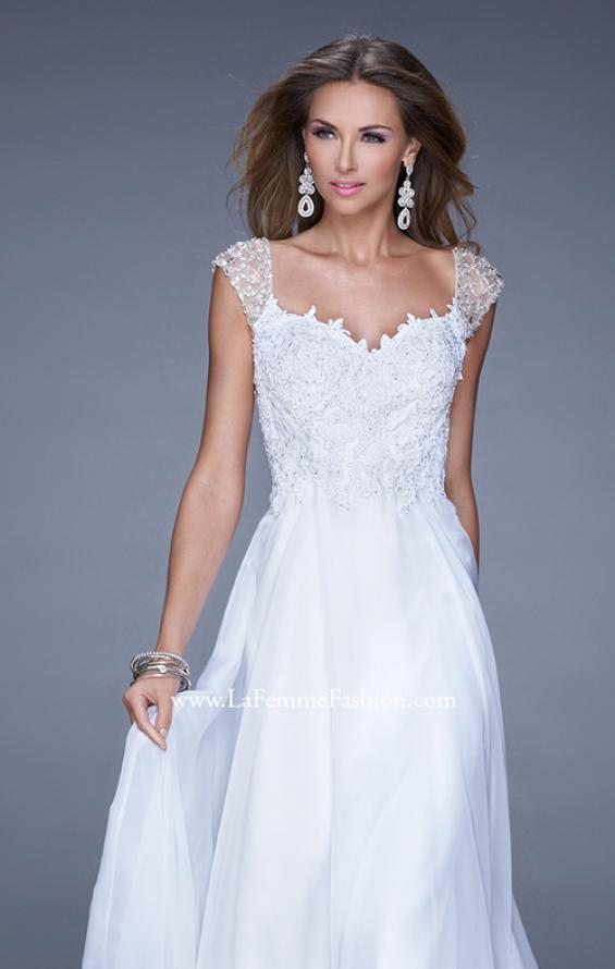 Picture of: Beaded Lace Sweetheart Prom Dress with Sheer Straps, Style: 20701, Detail Picture 7