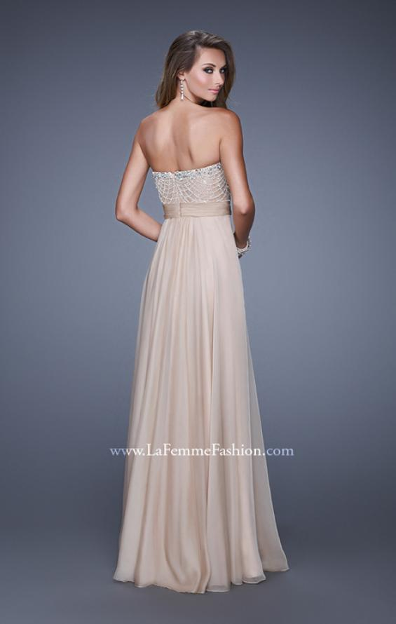 Picture of: Vintage Inspired Strapless Prom Dress with Embellishments, Style: 20708, Back Picture