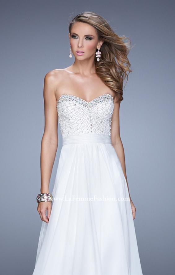 Picture of: Vintage Inspired Strapless Prom Dress with Embellishments, Style: 20708, Detail Picture 5