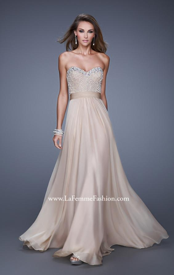 Picture of: Vintage Inspired Strapless Prom Dress with Embellishments, Style: 20708, Detail Picture 6